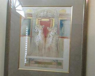 Leopard print framed