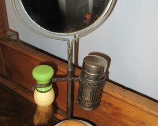 antique shaving mirror and stand