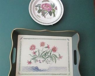 port merion plates and tray
