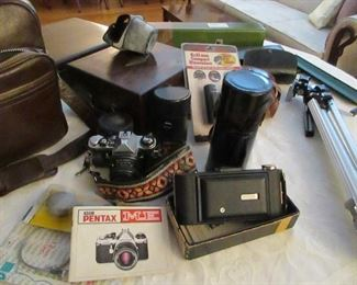 vintage cameras and lens