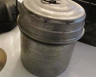 vintage coal miner's lunch bucket pail
