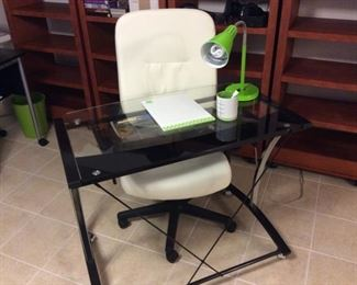 Desk and Chair on Wheels