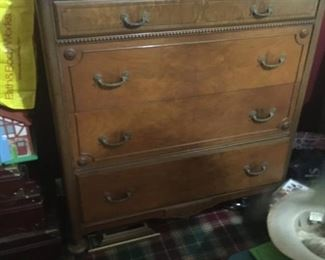 . . . a nice walnut dresser -- mirrored dresser to match on second level of home