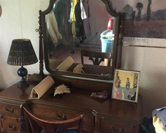 This is the matching mirrored dresser found on second floor of home.