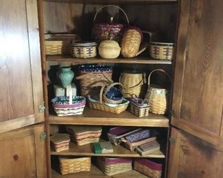 Longaberger baskets galore!  All in pristine condition:)