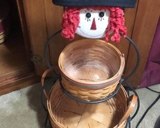 Raggedy Ann Longaberger basket holder