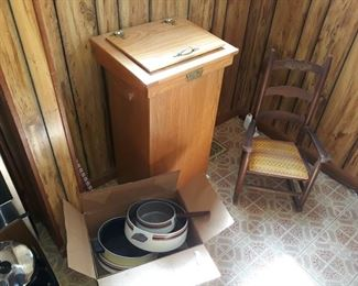Pots and Pans, Garbage Can, Children's Rocking Chair