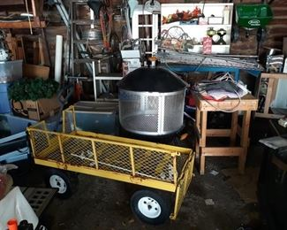 Large Wagon, Fire Pit, and MORE