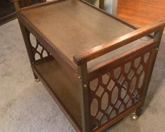 TV stand from back when TVs were a big deal and needed their own stand. Super cool stand too