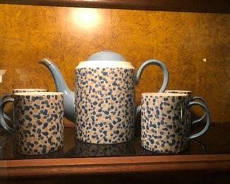 spotted dick tea set