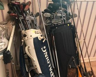 implements of self defense -- or golf clubs.