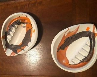 Two of the coolest ashtrays ever made. Makes almost wish I was a derelict 13-yr-old and still smoking again.