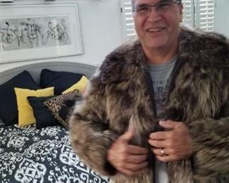 Men's fur jacket - generous cut - fits 42-50 - By Wrubel & Kozin Birmingham MI. – original owner