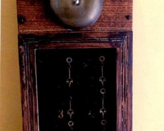 mid-1800s English Downton Abbey-type call box
