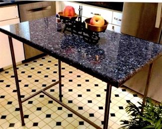 granite top portable kitchen island
