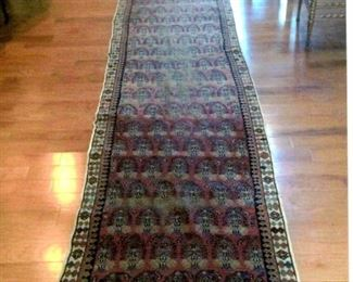"antique 32"" x 18' oriental hall runner"