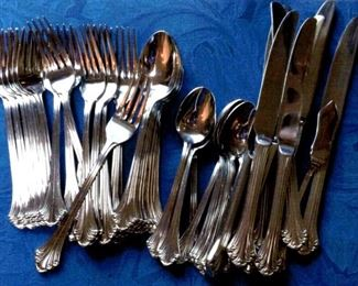 Set of stainless flatware