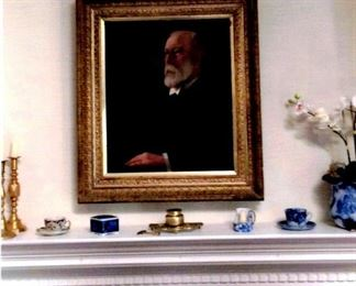 Oil painting of Mr. Wickershaw, late 1880s.