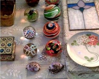 Beautiful paper weights, etc.