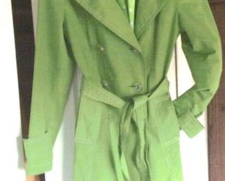 Michael Kors belted rain coat and scarf, size S/P - like new