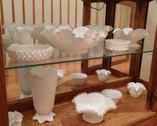 A small sample of the Milk glass that will be for sale
