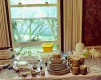 China, glassware and many collections.