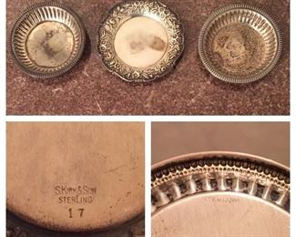 Small Sterling Bowls/Coasters