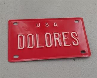 Delores Bicycle Plate