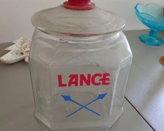 Old Lance Jar with Lid