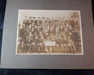 Early Snow Lumber Photograph with List of Employees on Back