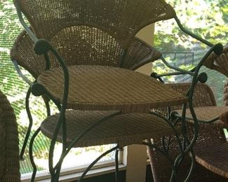 Vintage wicker patio set