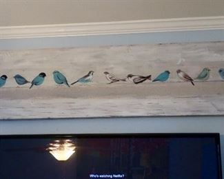 Cute Wood Birds on a Wire