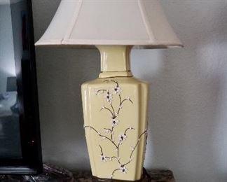 Vintage Oriental Raised Flower Lamps