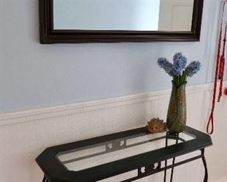 Nice Entryway Table-Metal and Glass