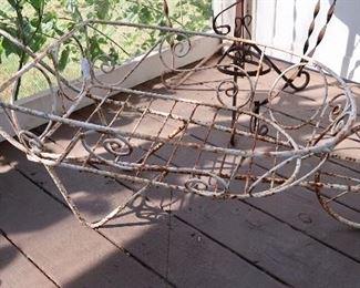 Vintage Iron Wheelbarrow
