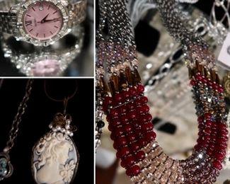 Seiko Watch - Cameo - Multi-Stone Necklace