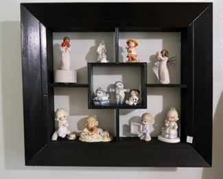Cute Shadowbox, Precious Moments and Willow