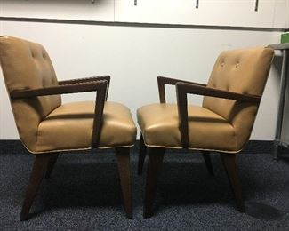 Mid Century Dining Chairs Side View