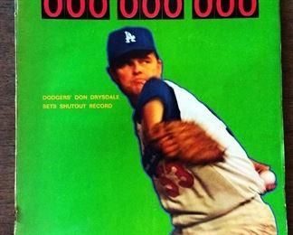 Vintage Sports Illustrated Magazine- Don Drysdale Cover