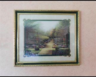 """ber 4 """"The Garden Path"""" Wall Art Print."""