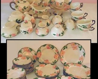 78 Pieces of Franciscan Dinnerware in the Desert Rose Pattern.
