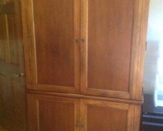"""Large credenza.....has shelving. Measures 50"""" wide x 25"""" deep x 78"""" high.  Presale $75"""