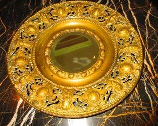 Mid 19th C. brass mirror