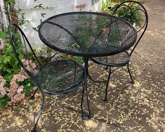 Bistro set of 3; two chairs plus table