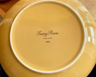TWO tracy reese decorative plates