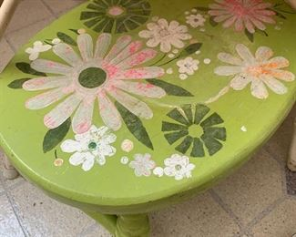 Vintage green step stool.