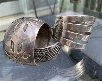 Sterling cuff bracelets