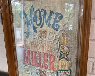 Home is where the Miller is - vintage drink tray