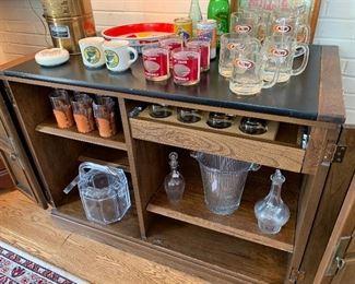 Vintage bar storage