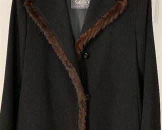 Great condition! Ladies designer, fur lined coat